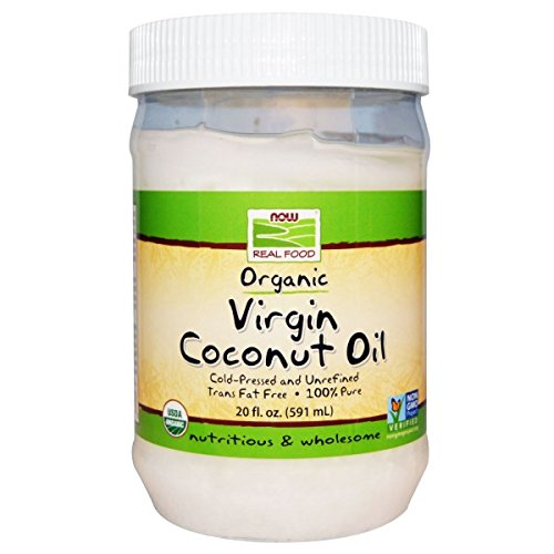 Coconut Oil Virgin Organic Non GE 20 Ounces by NOW Foods