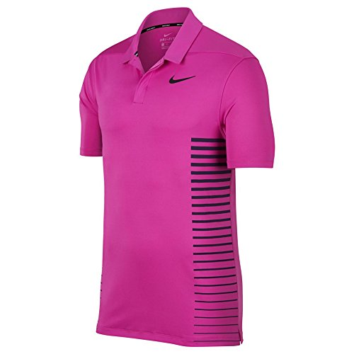 (Nike Dri Fit Print Golf Polo 2018 Hyper Magenta/Thunder Blue/Black Medium)