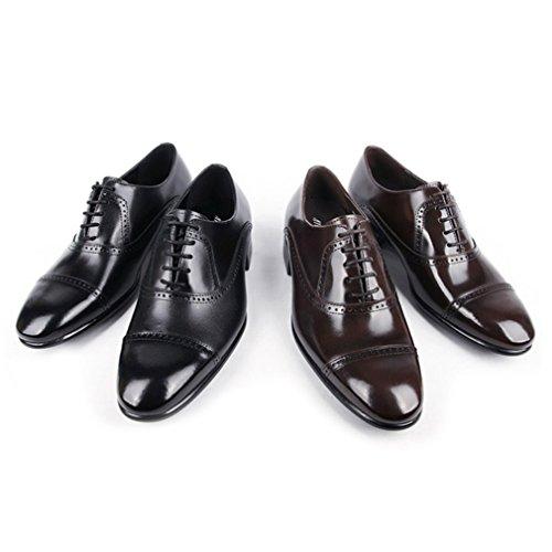 Epicstep Mens Véritable Vache En Cuir Robe Formelle Lace Up Rogue Chaussures Oxfords Mocassins Marron