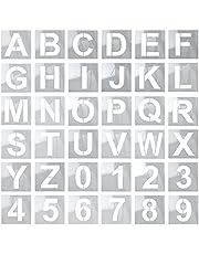 Letter Stencils Large 36 PCS, 5 Inch Alphabet Stencils Reusable Letters Template for Wood, Large Number Stencils for Painting, Letter and Number Stencils Art Craft Stencils for DIY Home Crafts Decor Art Projects