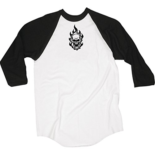 Short Sleeve Logo Raglan T-shirt - Creature Mens Logo Raglan 3/4-Sleeve Shirt Medium White/Black