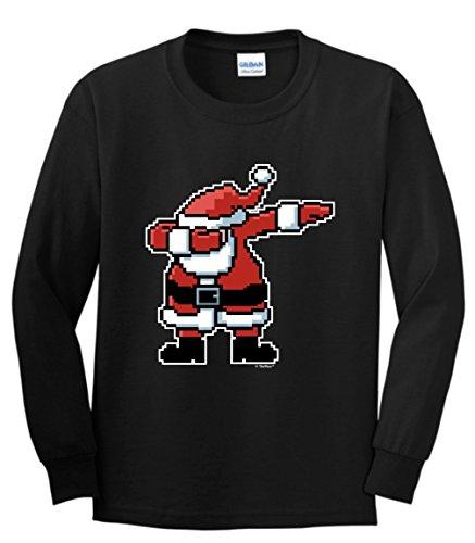 Dabbing Santa Christmas Sleeve T Shirt