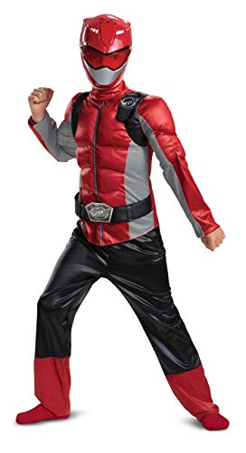 Disguise Red Ranger Beast Morpher Boys' Muscle Costume (Boys 4 Size Costumes)