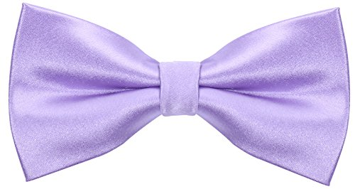 Solid Silk Bow Ties for Men - Bow Tie - Lilac Purple