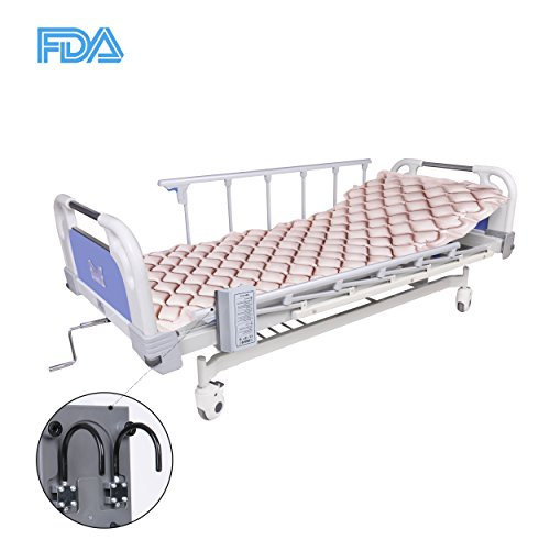 MARNUR Alternating Pressure Mattress Medical Air Mattress with Inflatable Pad & Electric Pump System for Ulcer Bedsore Prevention and Pressure Sore Treatment- Fits Standard Hospital Beds ()