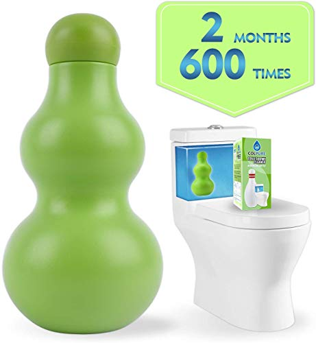Colpure Automatic Toilet Bowl Cleaner,New Generation-Toilet Bowl Tablets,600 Times Flushes Free Toilet Tank Cleaner and Tank System Bleach Toilet Bowl Cleaner Tablets(Green)