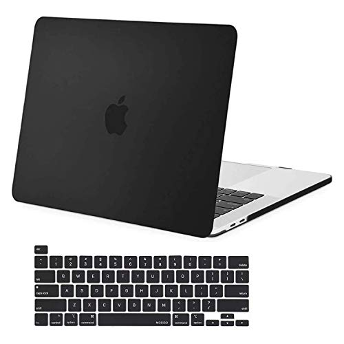 MOSISO MacBook Pro 16 inch Case 2020 2019 Release A2141, Ultra Slim Protective Plastic Hard Shell Case & Keyboard Cover Skin Compatible with MacBook Pro 16 inch with Touch Bar, Black