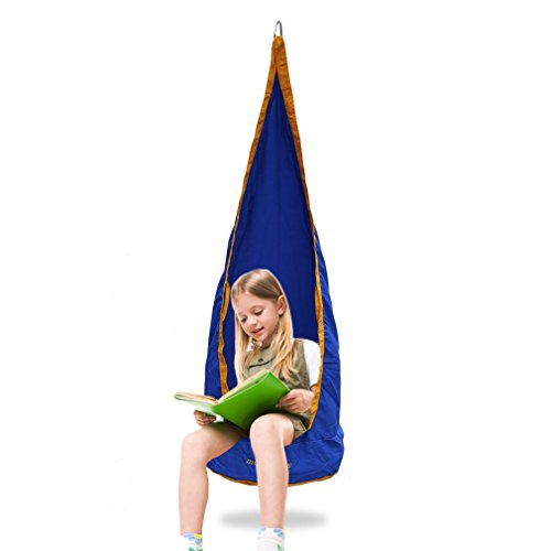 Homgrace Kids Swing Hammock Pod Chair, Hanging Seat Hammock Chair for Indoor and Outdoor Children use (Chair Thinking Inflatable)