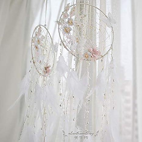 DaTun648 Sueños de Flores, Mariposa, atrapasueños, niña, Adornos, decoración del Dormitorio, campanitas de Viento, corazón de niña, Regalo de cumpleaños Sen