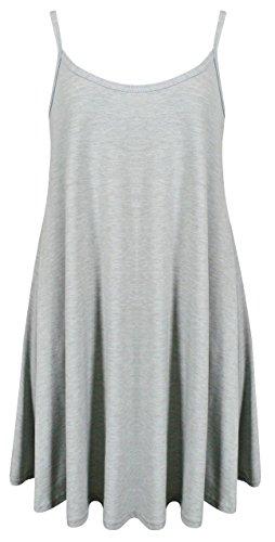 Vestido TrendyFashion Gris Claro