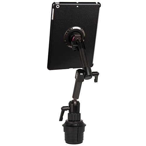 The Joy Factory MagConnect Carbon Fiber Car/Truck Cup Holder Mount for iPad Air and iPad 9.7 2017 (MMA208)