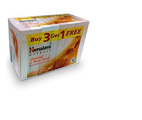 Himalaya Products/Himalaya India -Himalaya Healthcare Herbals Himalaya Ayurvedic Almond and Rose Soap, 125g (Buy 3 Get 1 Free)