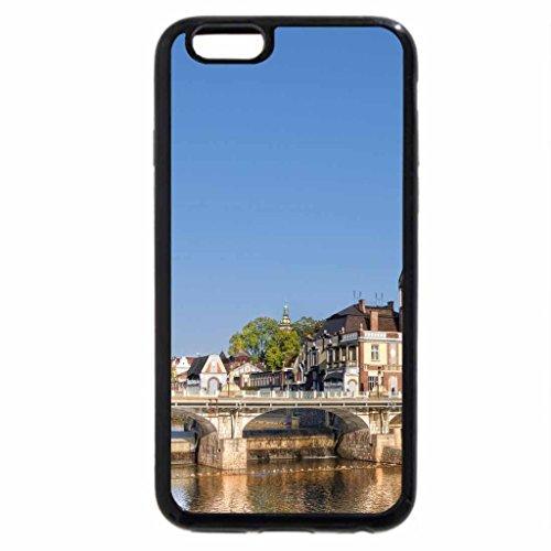 iPhone 6S / iPhone 6 Case (Black) bridge over river in lovely hradec kralove in the czech republic