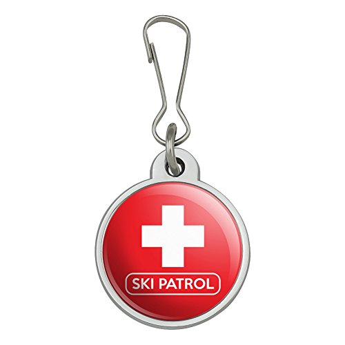 (Ski Patrol with Cross Jacket Handbag Purse Luggage Backpack Zipper Pull Charm)