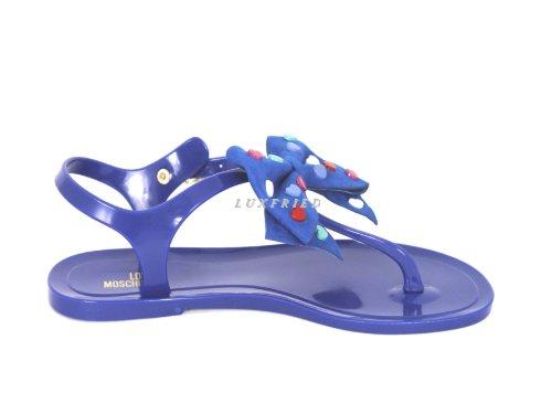 Alla Jp100a Moschino Caviglia Donna Cinturino Blau Scarpe Con qgPwxgUI