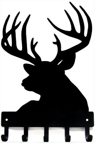 The Metal Peddler Buck Head Deer Key Rack Hanger - Small 6 inch Wide by The Metal Peddler (Image #2)