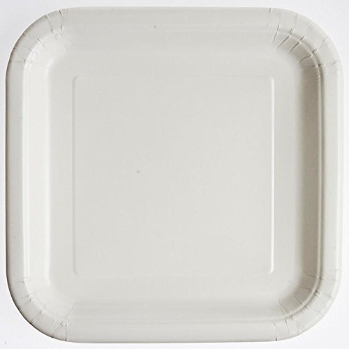 "White 9"" Square Plates"