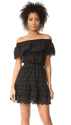 LOVESHACKFANCY Women's Elizabeth Dress, Black, X-Small