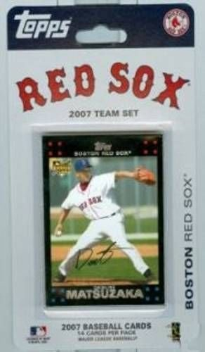 Tim Wakefield Rookie Card - Boston Red Sox 2007 Factory Sealed Limited Edition 14 Card Team Set with David Ortiz Daisuke Matsuzaka Rookie Card Plus