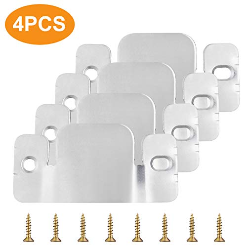 earthgadgets 4 Sets Sectional Couch Connectors Furnitures for Small Sofa and Sectionals, Sectional Sofa Connectors with Screws, Modular Sofa Connector Brackets Suitable for Small Sectional Couch