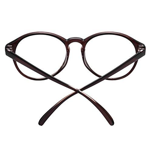 f3c226b24c ... Forepin® Lunettes Rondes Vintage pour Femme et Homme Montures Lunettes  de Vue Cadre Frame Lentille ...