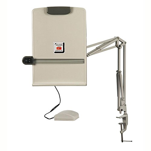 Dainolite Lighting DM10-A-PY Electronic Copy Holder with Controllable Ruler