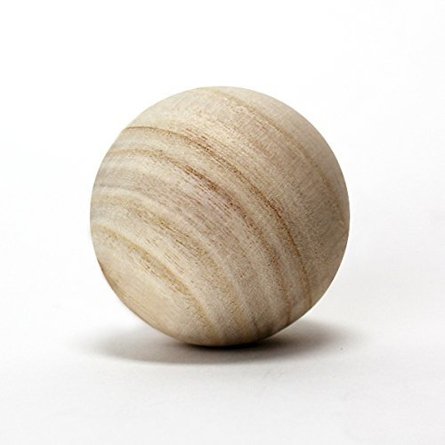 """CYS EXCEL CYS Natural Unfinished Wood Round Ball D-4.5"""", (Pack/2PCS)..."""
