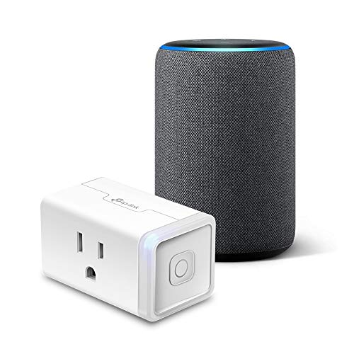 Echo (3rd Gen) Charcoal Bundle with TP-Link simple set up smart plug