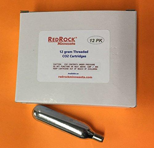 Leland Redrock 12 pack of 12 gram threaded CO2 Cartridges