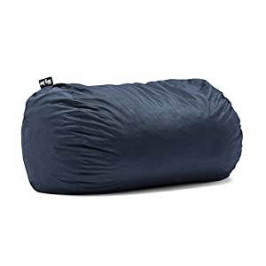 Big Joe 0002657 Media Lounger Foam Filled Bean Bag Chair, Cobalt Lenox