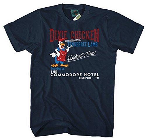 - Little Feat Inspired Dixie Chicken, Men's T-Shirt, Medium, Navy Blue