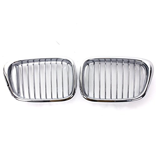 Chrome Front Kidney Grille Grill For BMW 5 Series E39 1999-2004