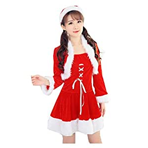 Christmas Costume Fancy Dress ,BeautyVan Women Sexy Santa Christmas Costume Fancy Dress Xmas Office Party Outfit