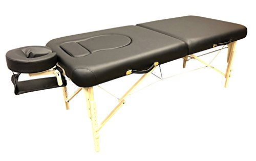 (DevLon NorthWest Pregnancy Portable Massage Table Black Reiki Shiatsu Stomach Recesses)