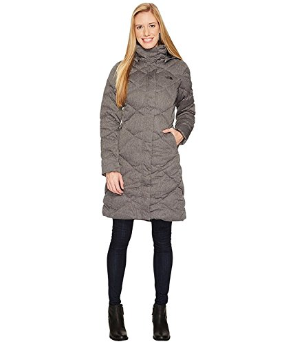 North Winter Face Coat (The North Face Women's Miss Metro Hooded Parka (Dark Grey Herringbone, Large))