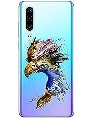 Oihxse Compatible con Huawei P9 Plus Funda Suave Gel TPU Silicona Cristal Transparente Carcasa Acuarela Animal Pintado Patrón Protectora Estuche Bumper Caso Case (B4)