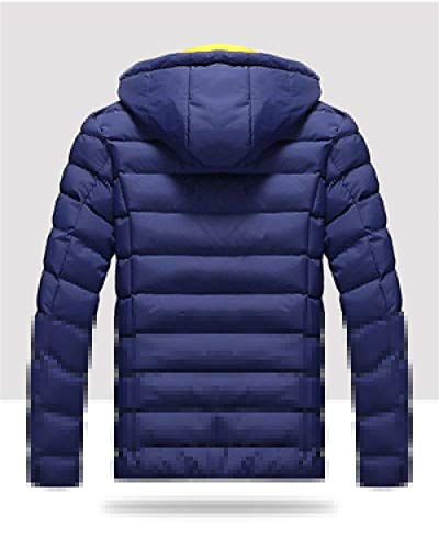 of Men's Apparel Sturdy Jacket Winter Material Made Sleeve Quilted High Long Quality and Outerwear Quilted Outdoor Warm Hooded Dunkelblau Jacket qS4S80t