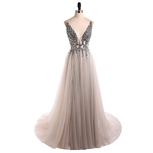 Beading Long Evening Dress - 5