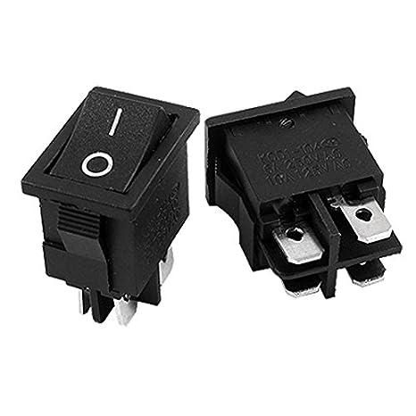 eDealMax a11123000ux0184 4 Pin ON/Off I/O DPST Snap En Interruptor Mini Boat Rocker, 5 Piece, AC 6 Amp / 250V, 10 Amp / 125V: Amazon.com: Industrial & ...