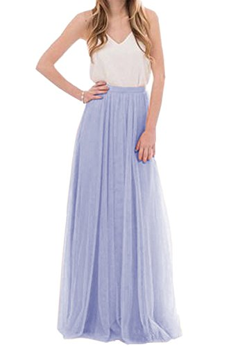 Belovecol Lady's Fold Elegant Ball Gown Dress Plus Size Wedding Bridesmaid Formal Dress Lilac ()