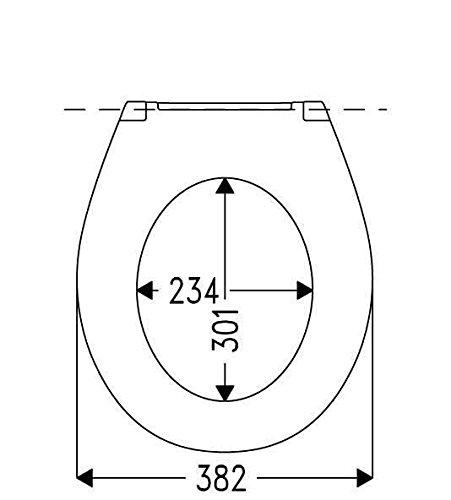 Cedo WC Sitz XXL Extra Breiter Toilettensitz mit stabilem Edelstahlscharnier