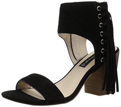 Steven by Steve Madden Luisa de la mujer vestido sandalia Black Suede