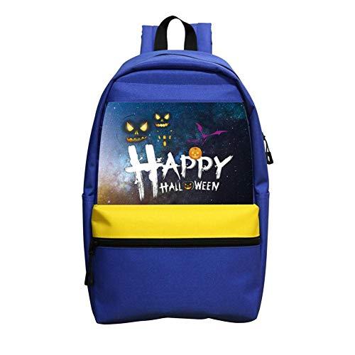 Kids Halloween Pumpkin Art Lightweight School Bags Backpack for Boys and Girls Blue]()