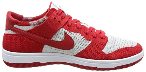 de Nike Red Homme White Flyknit wolf Grey Dunk Basketball University Chaussures ffOtpxq