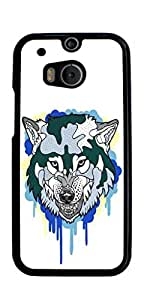 Wolf Animal Hard Case for HTC ONE M8 ( Sugar Skull ) by runtopwell