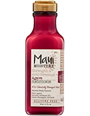 OGX, Maui Moisture Strength AntiBreakage + Moisturizing Agave Conditioner for Color Treated or Chemically Damaged Hair Vegan Silicone ParabenFree SulfateFree Surfactants, hibiscus, 13 Fl Oz