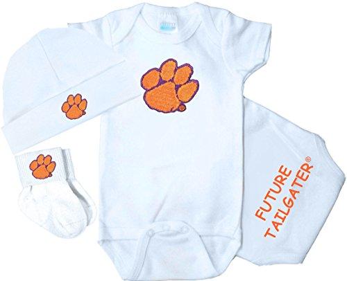 Future Tailgater Clemson Tigers 3 Piece Baby Clothing Set (Newborn) ()