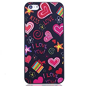 Cartoon Love Heart Back Case for iPhone 5/5S