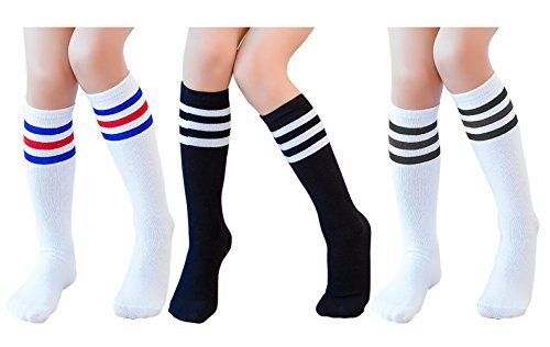 Knee High Tube Socks for Boys, Girls, Baby, Toddler & Child 3,4 Pairs