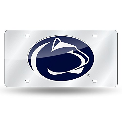 (Rico Industries NCAA Penn State Nittany Lions Laser Inlaid Metal License Plate Tag, Silver)
